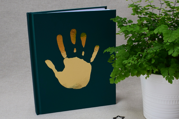 Personalized Foil Handprint notebook