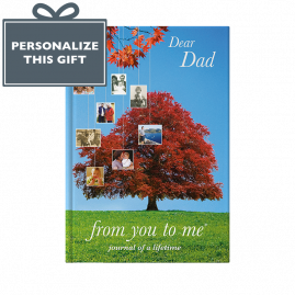 Dear Dad (tree) hardback guided memory journal by from you to me