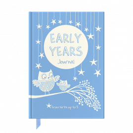 Early Years (blue) hardback memory journal (0-5 years) with complementary notebook by from you to me