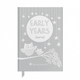 Early Years Grey baby to five years record journal & notebook by from you to me