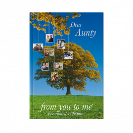 Dear Aunty hardback guided memory journal by from you to me