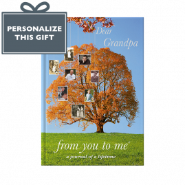 Dear Grandpa (tree) hardback guided memory journal by from you to me