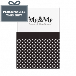 Mr & Mr anniversary & relationship journal by from you to me