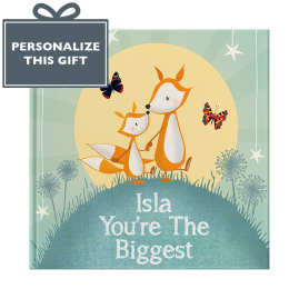 Personalised You're The Biggest hardback children's book cover by from you to me