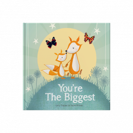 You're The Biggest hardback children's keepsake gift book celebrating becoming a big brother or sister on the arrival of a new baby