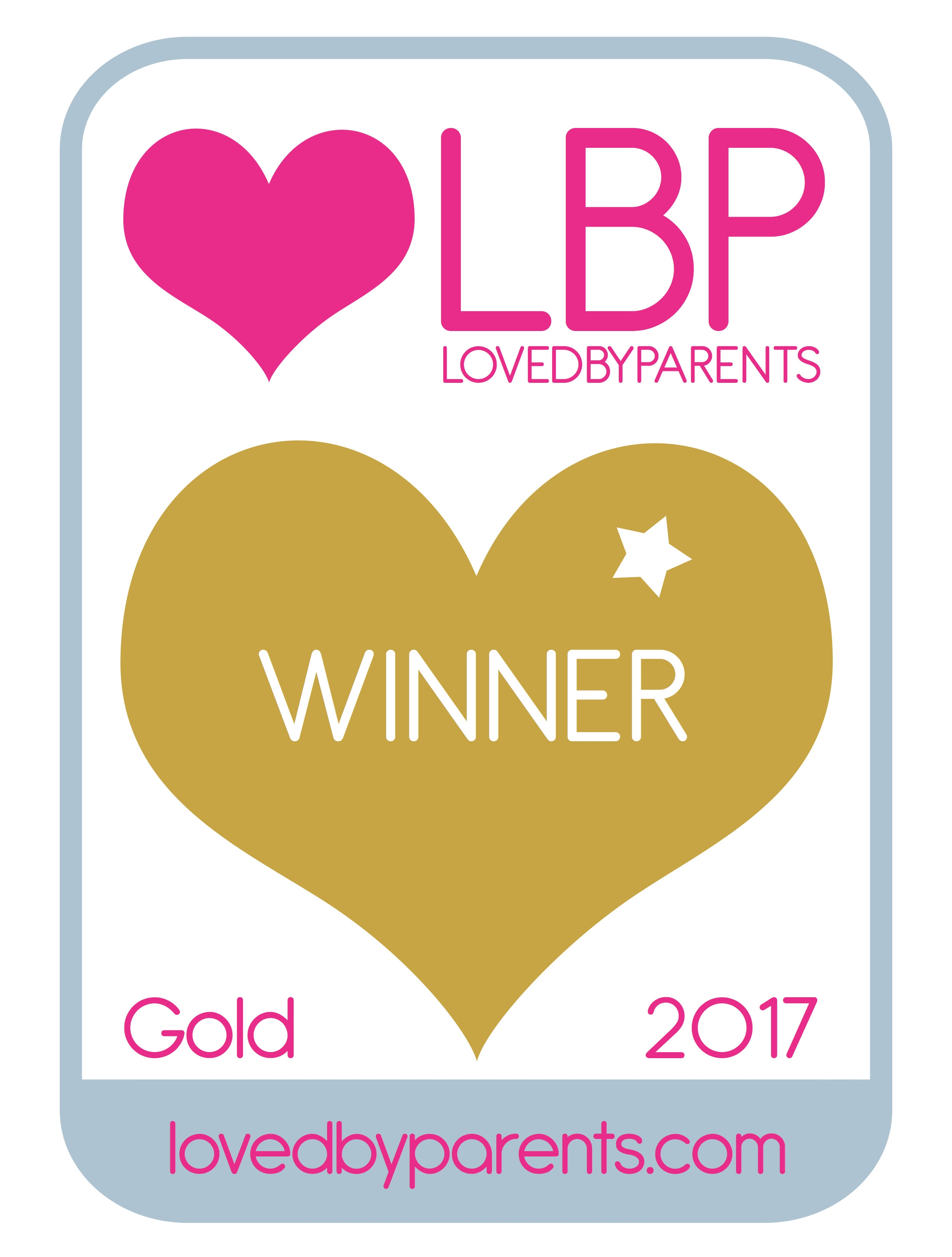 Loved by Parents 2017 Gold Winner Logo